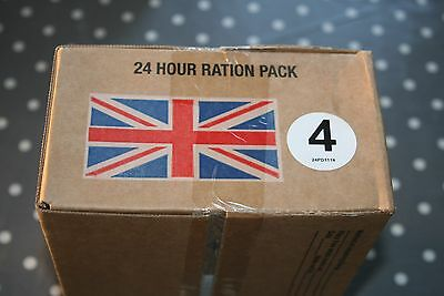 British Army Issue 24 hr Ration Pack cadets hunting camping bushcraft Menu 4