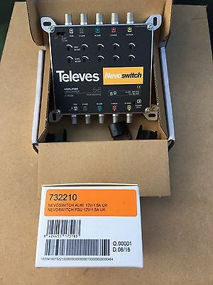Televes ( nevoswitch ) 5 wire Amplifier + Power Supply