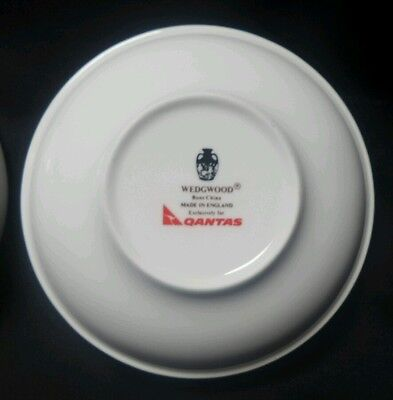 1980's WEDGWOOD Bone China Qantas In Flight Bowls - Set X2 1st Class Stackable