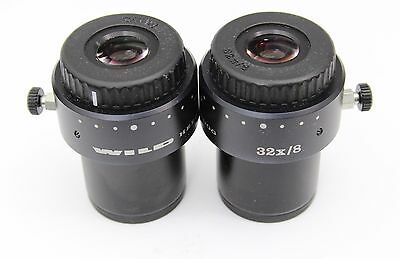 Wild Heerbrugg 32x / 8 Microscope Eyepieces 30mm