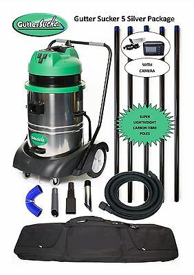 Gutter Cleaning Vacuum with Inspection Camera 7.5m (25ft) Reach