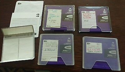 HHB MD74 Recordable MiniDiscs X 4 with Cases
