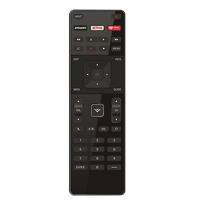 US New Vizio XRT122 LED HDTV TV Remote Control with Amazon/Netflix/IHeart Key