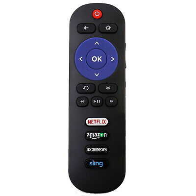 RC280 LED HDTV Remote Control for TCL ROKU TV with Netflix Amazon CBS Sling Keys