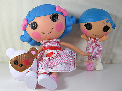 "Lalaloopsy Doll - Rosy Bumps n Bruises with Pet 12"" plus her sister Stumbles 6"""