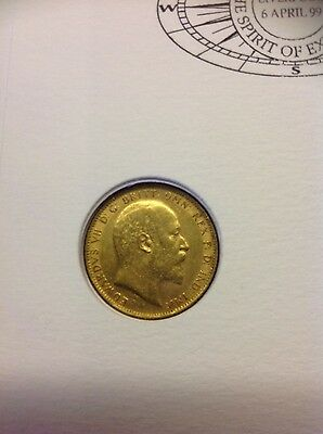 Full Gold Sovereign 1903 London Mint with Benham First Day Cover