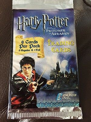 Harry Potter and the Prisoner of Azkaban Sealed Trading Card Pack X 7