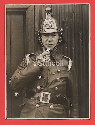 Real Photo Circa 1930s Fire Brigade by Harrow Middlesex Observer Gazette Proof 5