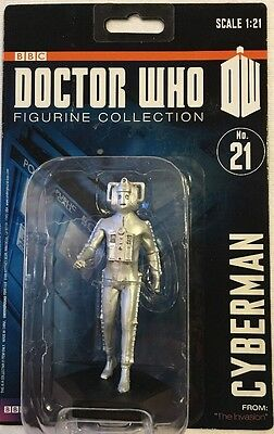 BBC Doctor Who Collection Cyberman 4 in. Figure #21 New 2012