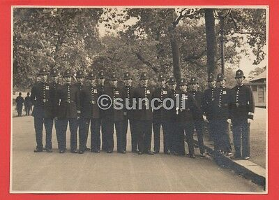 Real Photograph of a group of Policeman in full Uniform Circa 1950s
