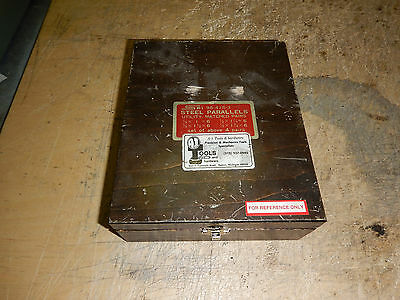 Spi Machinist Parallels With Wooden Case Machinist Tooling Jig Fixture 3 Sets