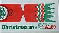 Gb Stamps - Royal Mail Booklet Of Stamps £1.80  - Christmas 1979 - - Mint