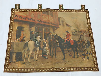 Vintage French Print Beautiful Scene Tapestry 76x60cm (T634)