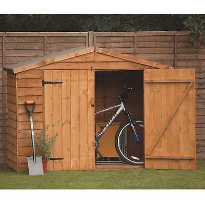 Bike Storage Shed Wooden 7x5ft Treated Timber Outdoor Bicycle Store Garden Tools