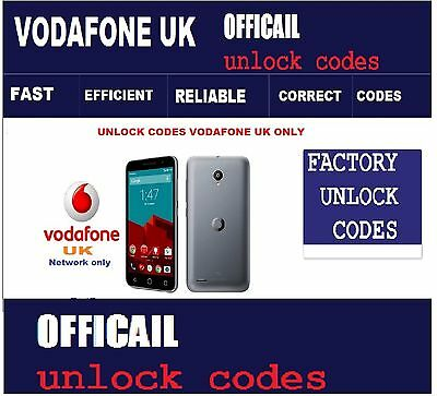 Vodafone UK Microsoft Lumia 650 Unlock Codes Vodafone UK only