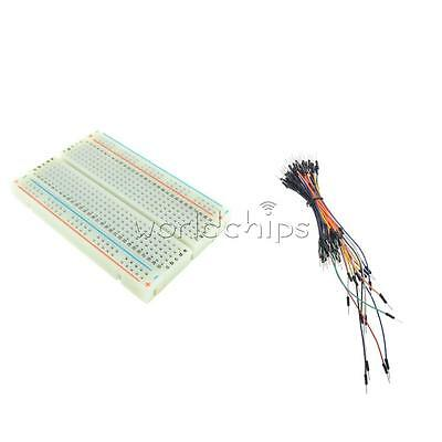 Mini Universal Solderless Breadboard 400 Tie-points +65PCS Jumper Cable wire New