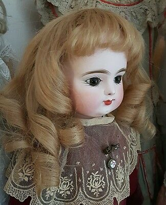 Antique Doll Original Late Antique French Doll Wig...wig Only...