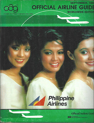 Official Airline Guide (OAG) Worldwide timetable 9/88 [7014]