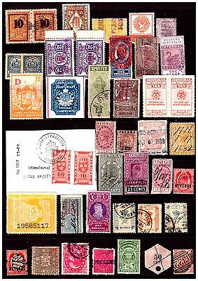World Revenue Selection 42 Stamps. Mint/Used.  #724