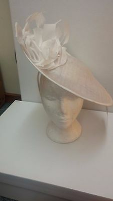 Nigel Rayment Disc Hat Mother of the Bride Ivory White Floral BNWT RRP £180