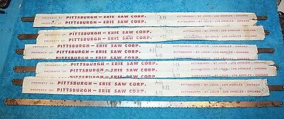 "VINTAGE 20"" PITTSBURGH-ERIE Saw Corp Saw HACKSAW Blades  Lot of 6"