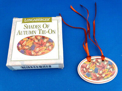 NEW 1995 Longaberger Shades of Autumn Tie On - Comes in Original Box