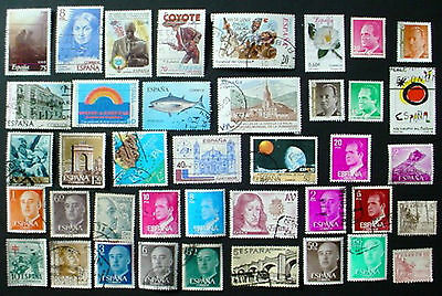Spain: Collection Of 40 Used Stamps:  Lot 2