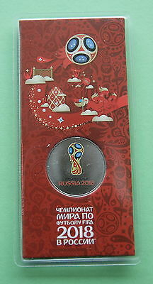 Commemorative Coin 25 rubles Football World Cup FIFA 2018, in official blister