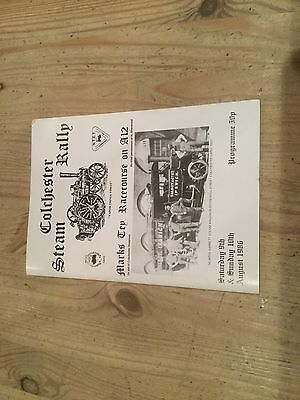 COLCHESTER STEAM RALLY PROGRAMME 1986 traction engines