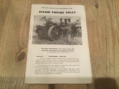 EAST ANGLIAN STEAM RALLY 1977 programme TRACTION ENGINE