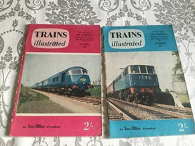 x2 TRAINS ILLUSTRATED MAGAZINES 1960