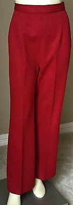 Vtg Retro 60's 70's Mod Red High Waisted Hippie Bell Bottoms Flare Pants S M