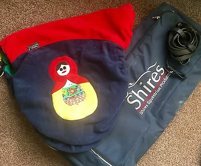 Hamlette House Saddle Cover And Shires Bridle Bag