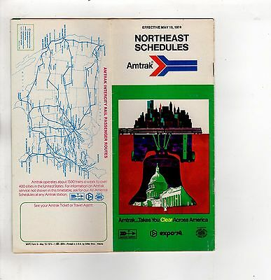 Amtrak Timetables Northeast Schedules  May 19,1974