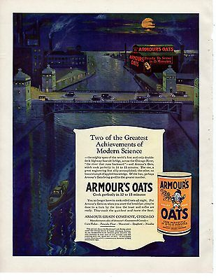 1923 Original Armour's Oats Chicago   ad Oversize wonderful for framing