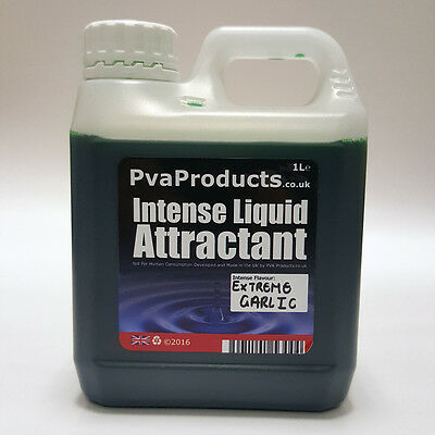 Intense Liquid Flavour Additive fishing Bait Attractant 1 Litre Extreme Garlic