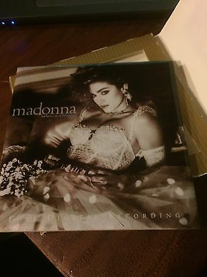 "Madonna Like A Virgin 4.5"" Ceramic Tile Coaster Cork Backing Rare Warner Promo"