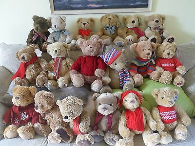 House of Fraser collectable Teddy Bears - years1996 to 2013 inclusive