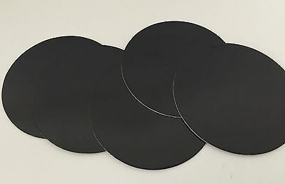 "5 x 6"" INCH (15cm) Round THIN Cut edge CAKE Boards Cards BLACK Support HALLOWEEN"