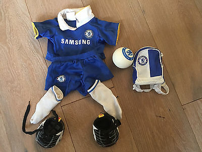 Build a bear Chelsea strip with ball and branded backpack