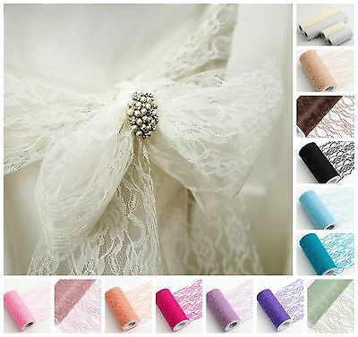 LACE NET Wedding Chair Tie Sash Floral Venue Table Pew Balloon Tulle Decoration