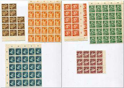 1940 Lithuania,Standard Issue,MNH Part Of Sheet Mi#437-442