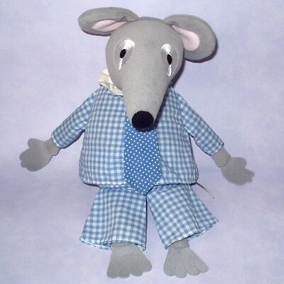 """Bagpuss - Large 12"""" Charlie Mouse Plush Soft Toy Doll - Vgc"""
