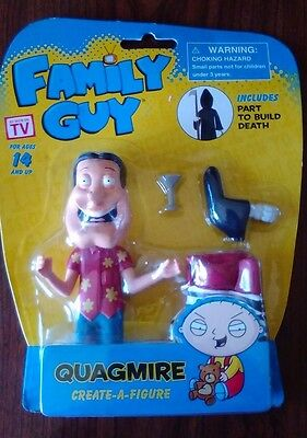 NEW Family Guy Quagmire With CREATE-A-FIGURE part to build Death