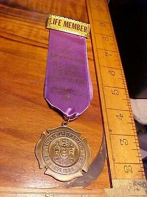 Vintage 1985 Wildwood N.j.  Firemens Ribbon Badge 108Th Annual Convention