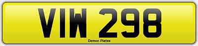 """""""viw 298"""" Private Registration """"viw 298"""".nice Cheap Number For """"viw"""" Initials."""