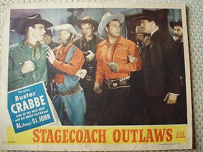 3 Scene Cards; 1944 & 1945; Buster Crabbe