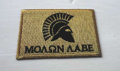 P5 MOLON LABE Spartan Greek Iron Patch Come And Take Them - Ancient Defiance