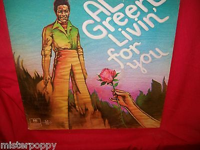 AL GREEN Livin' For You LP USA First Pressing 1973 VG+