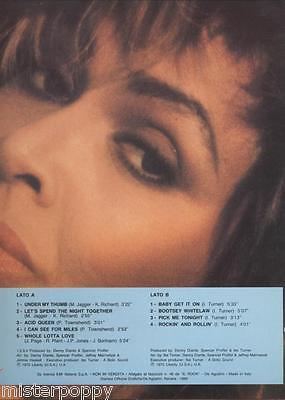TINA TURNER rare Promo only LP ITALY Unique Laminated Cover MINT